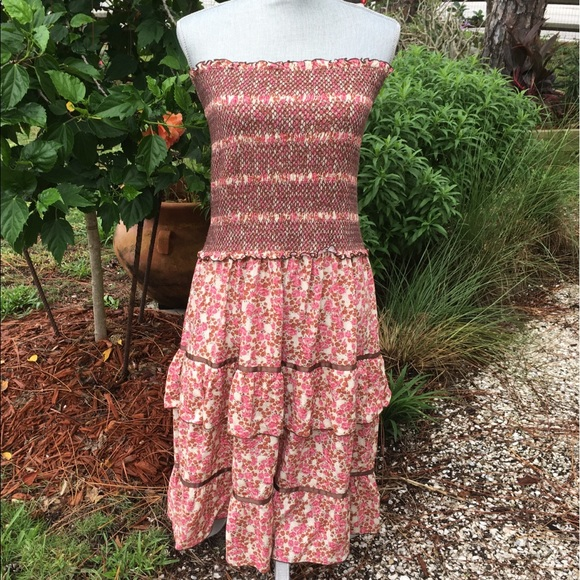 Free People Dresses & Skirts - Free People Smocked Floral Tiered Dress